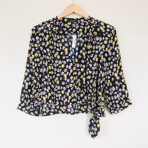 NWT Madewell Wrap Top in French Floral